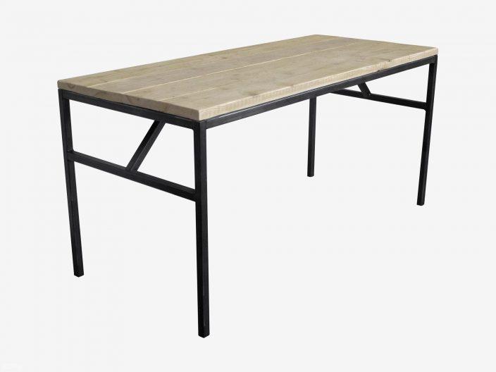 Industrieller Bauholz Schreibtisch