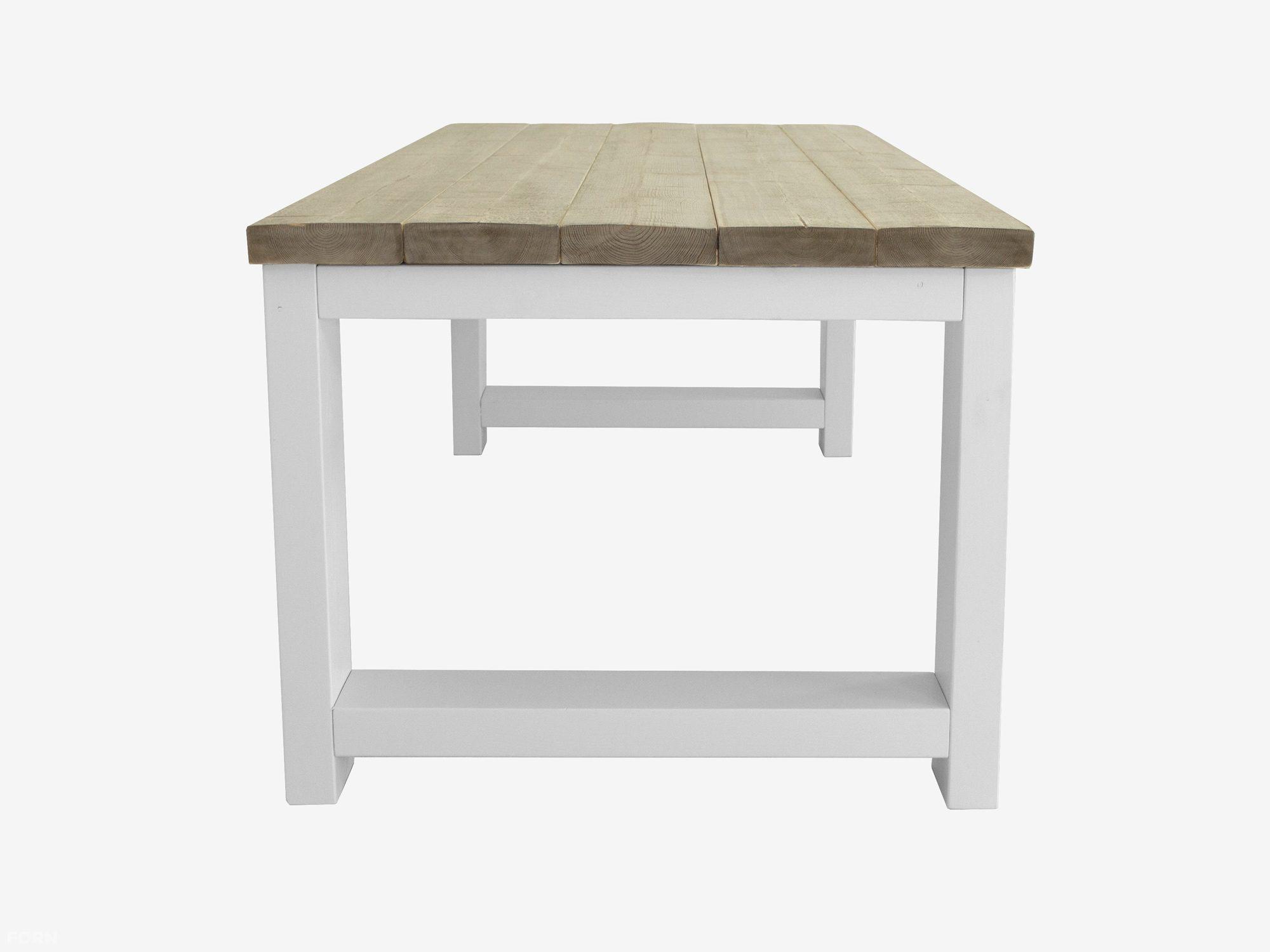 Bauholz Tisch mit weißer Lackierung - Bauholz Möbel