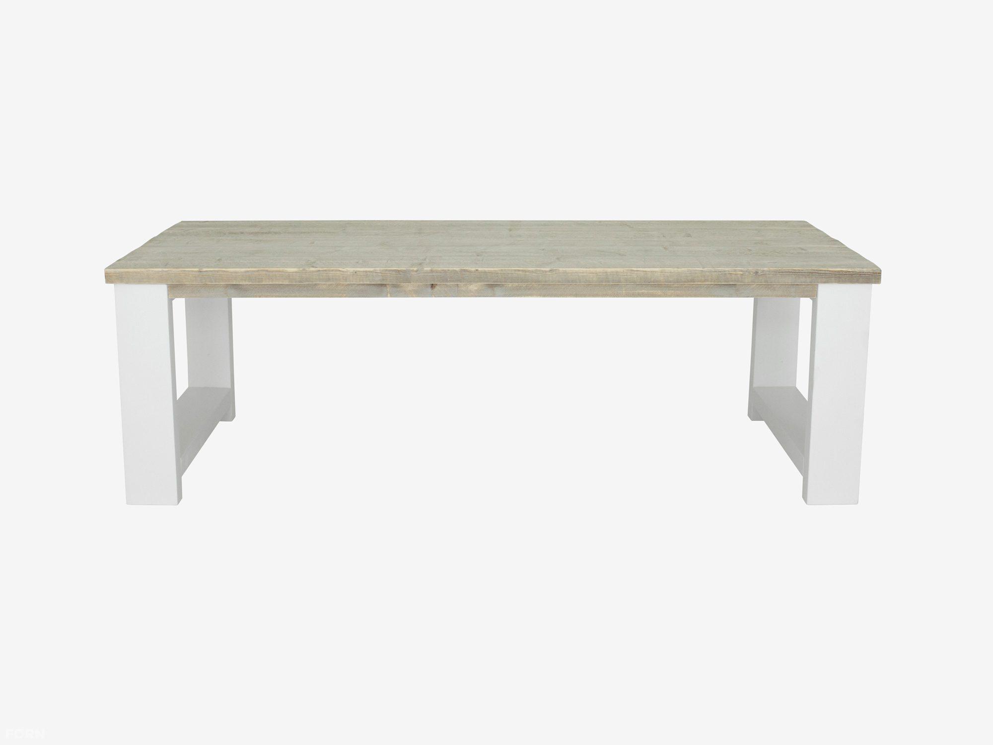 bauholz tisch mit wei er lackierung bauholz m bel. Black Bedroom Furniture Sets. Home Design Ideas
