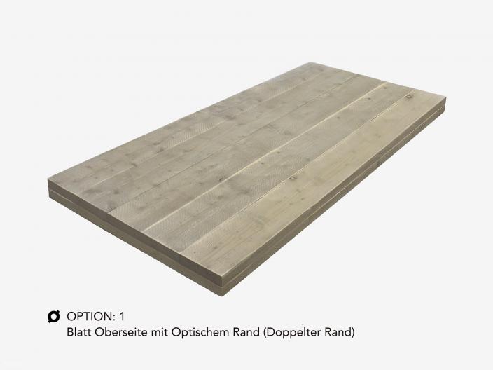 Bauholz Tischplatte auf maß option 1