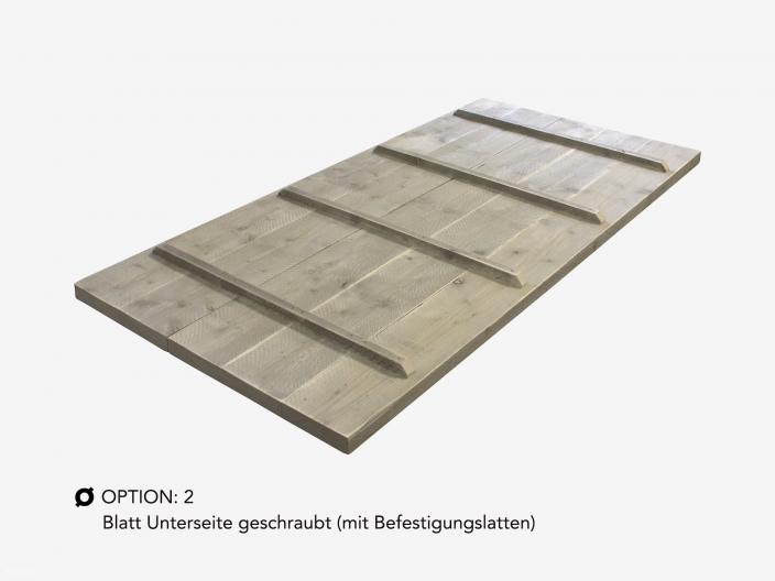 Bauholz Tischplatte auf maß option 2