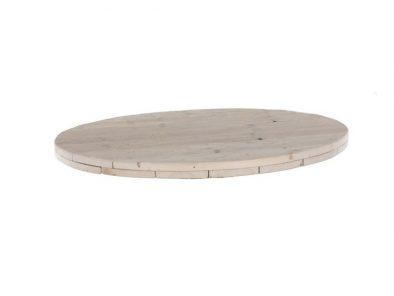 Runde Bauholz Tischplatte