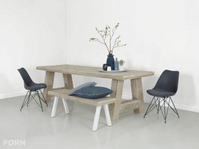 Bauholz Tisch A-Beine eindruk