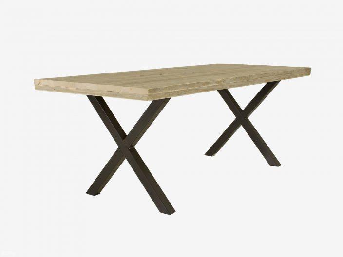 Tisch Industriedesign tibbe mit X-beinen weisser hintergrund
