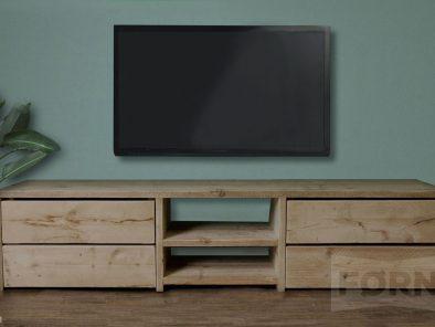Bauholz TV Schrank mit Schubladen