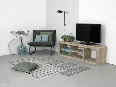 Offener Bauholz TV Lowboard eindruck