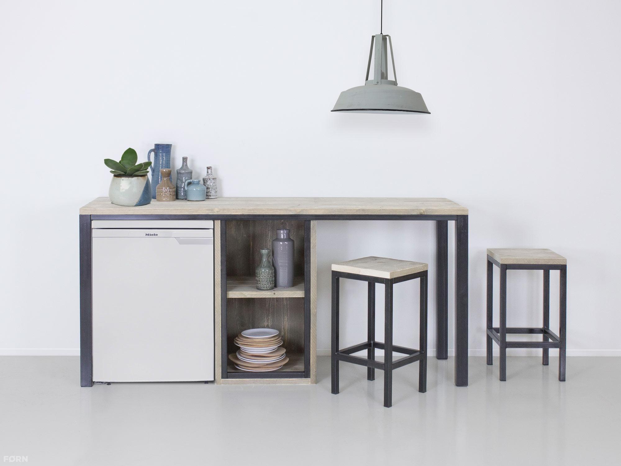 Wunderbar Küche Industriedesign Ideen Von Bartisch Jan Mit Schrank