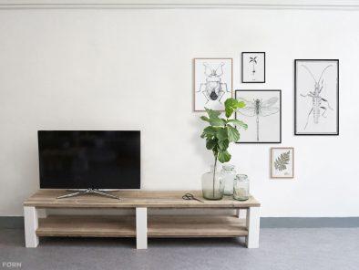 Landhausstil Bauholz TV Lowboard Malena