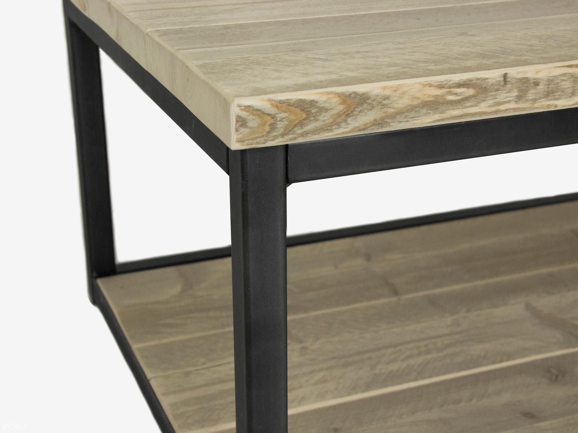 Industriedesign Couchtisch Devi Aus Stahl Und Bauholz