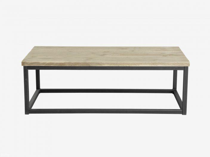 Industriedesign Couchtisch Levi aus Stahl und Bauholz seite