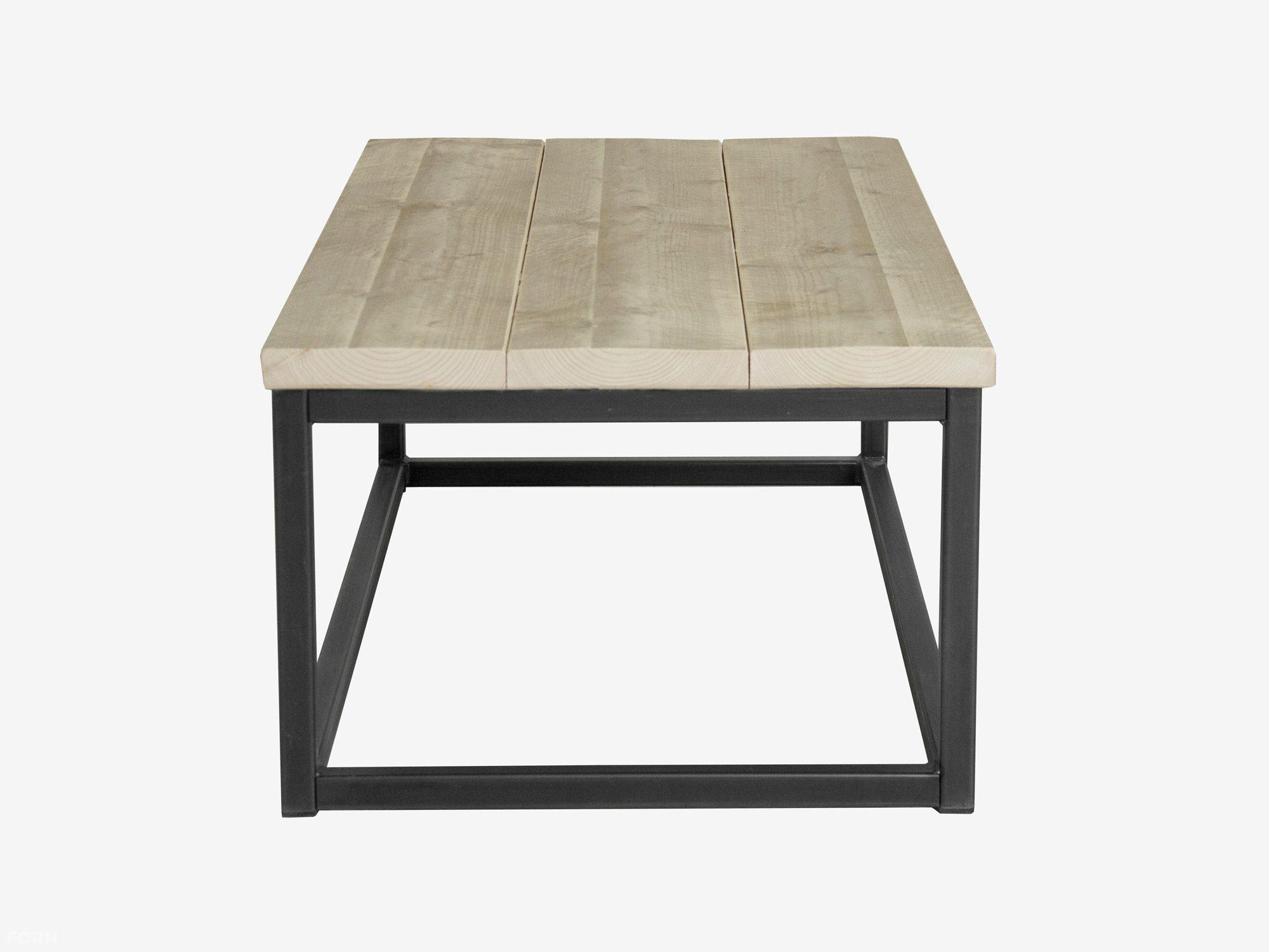 industriedesign couchtisch levi aus stahl und bauholz. Black Bedroom Furniture Sets. Home Design Ideas