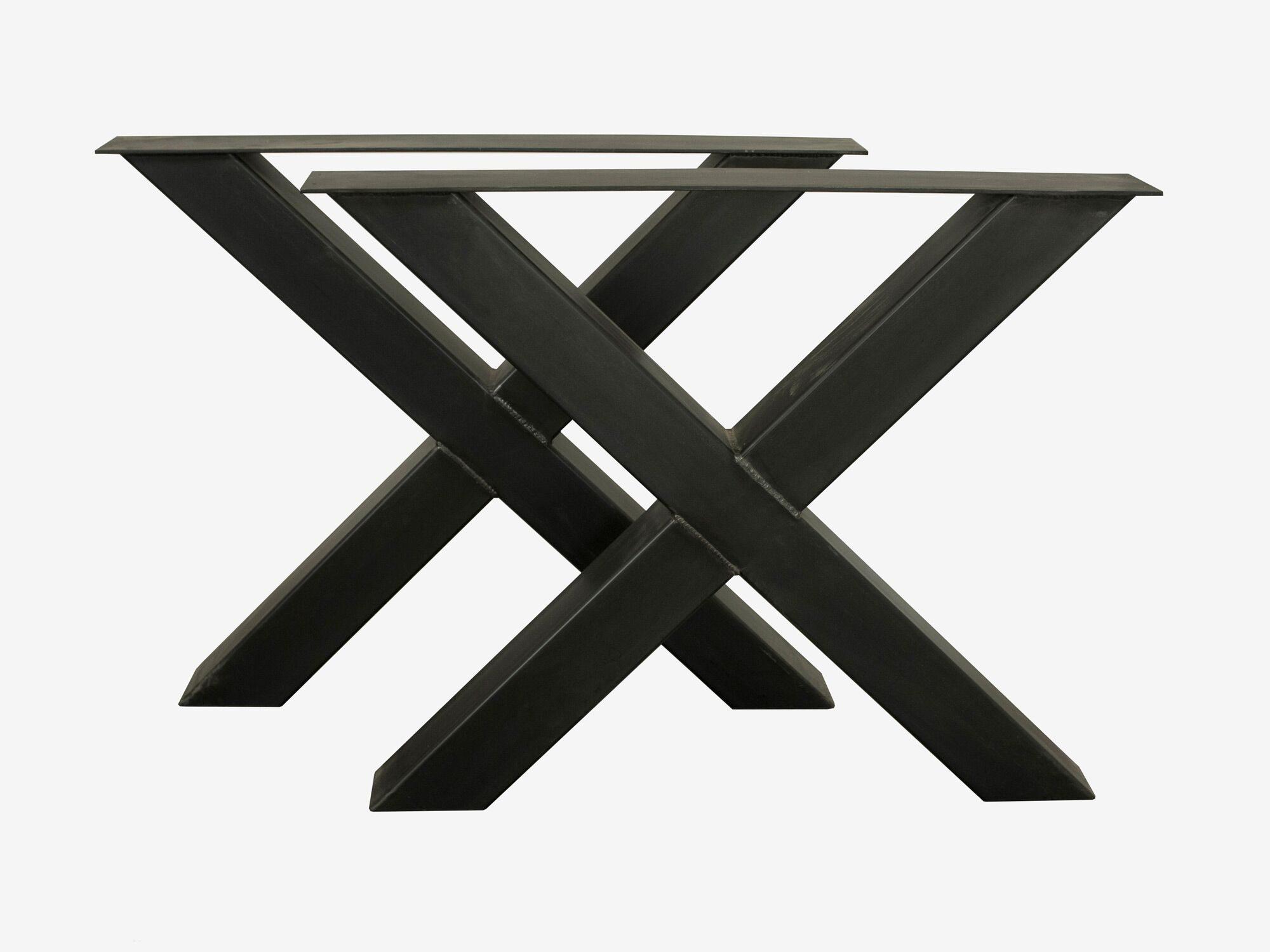 Industriedesign tischgestell - X-fuß-rohr-10x10cm