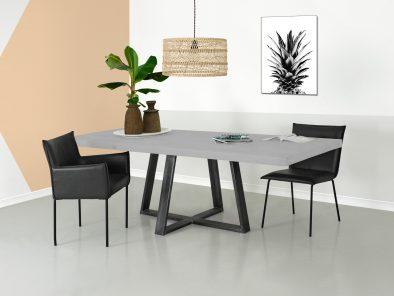 Esstisch Vasco ist ein Tisch im Beton Look